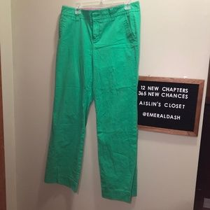 Lilly Pulitzer main line fit Green pants size 10